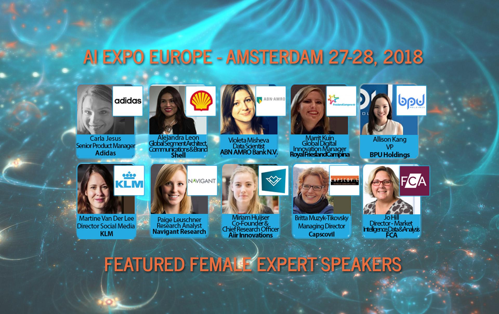 AI Expo Europe 2018 Featured Female Expert Speakers