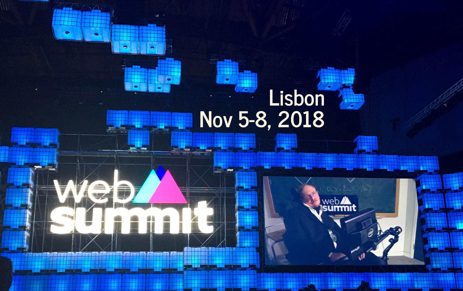 Web Summit 2018 Lisbon Nov 5-8