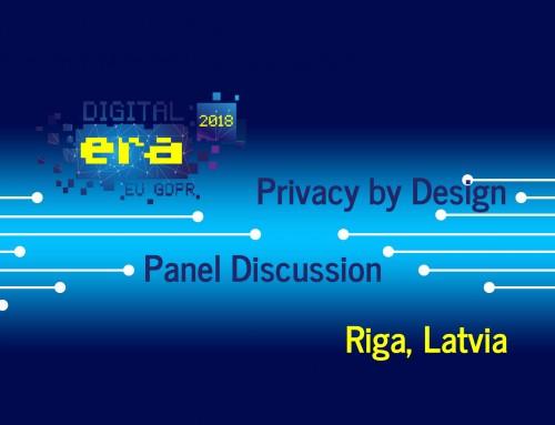 Digital Era 2018 Riga, Latvia – Privacy by Design Panel (EN)
